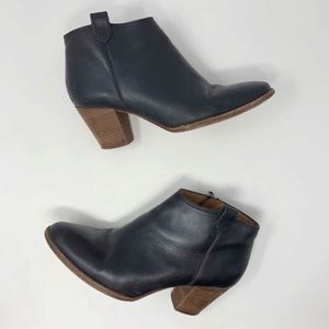 Madewell Black Leather Billie Boot Ankle Bootie 9